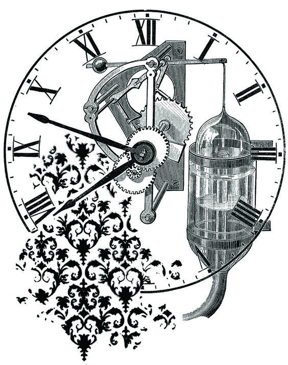 Clock Damask, Machine