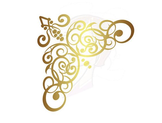 Border Corners Digital Clip Art Clipart Gold by MayPLDigitalArt, $6.20