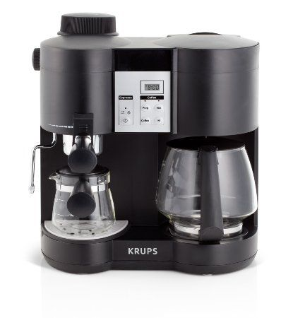 Combination Coffee Maker K Cup : Amazon.com: KRUPS XP160050 Coffee Maker and Espresso Machine Combination with Milk Frothing ...