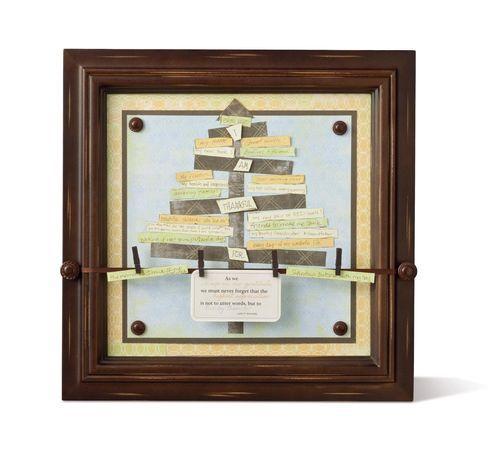"Gratitude Thankful Tree as seen in ""Secret Ingredients"" by Nancy O'Dell www.mycmsite.com/kerrytroyer"