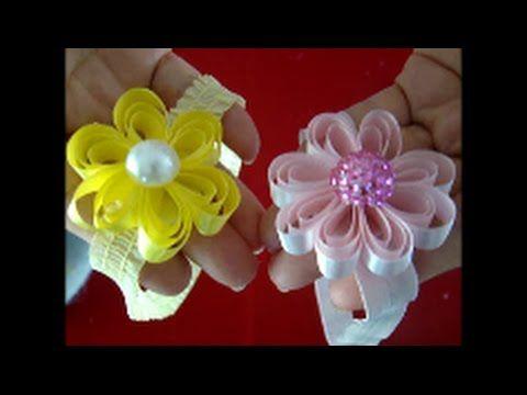 DIY como fazer tiara com florzinha - YouTube