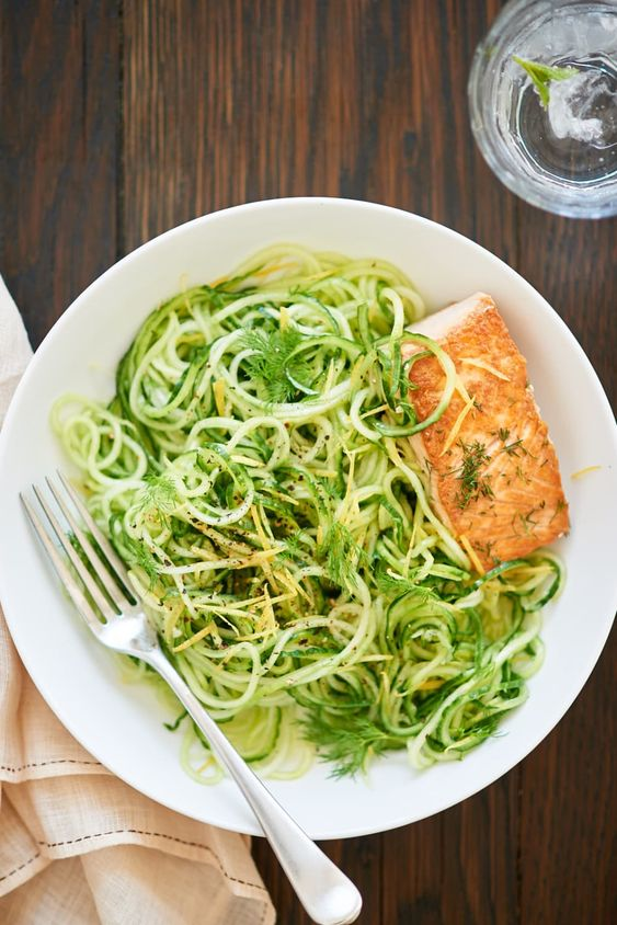 Chilled Lemon-Dill Cucumber Noodles