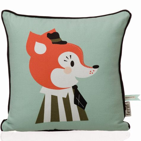 Mr. Frank Fox Cushion | kids room | ookidoo.com - shop for creative, stylish kids... and their parents