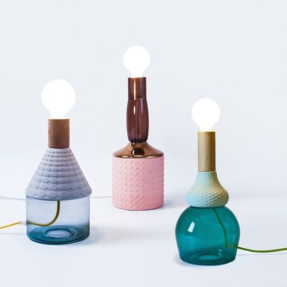 glass, porcelain and cork lamps   Corner Store