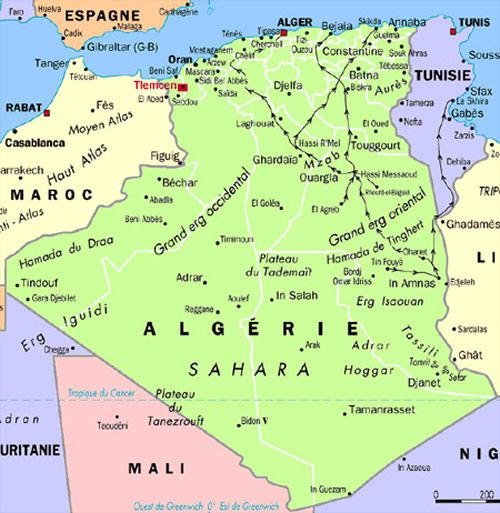 Carte Algerie Capital La Carte D Alger La Capital D Algerie