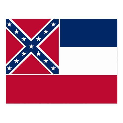 Patriotic Mississippi State Flag Postcard Mississippi Flag State Flags Postcard