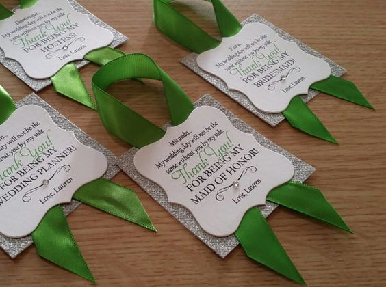 Bridesmaid Thank You Wine Bottle Tags