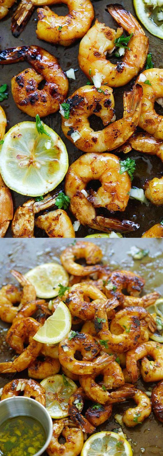 Grilled Honey Cajun Shrimp – amazing grilled shrimp with honey Cajun seasonings. Sweet, spicy, the best and easiest Cajun shrimp ever   rasamalaysia.com