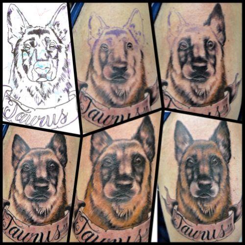 Dog tattoo Bruno Lanca.