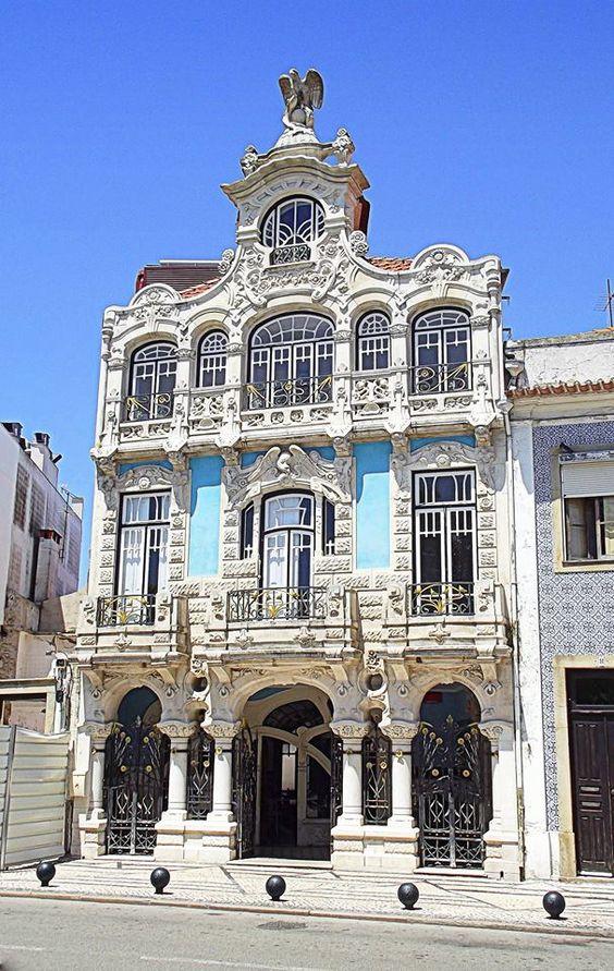 Casa de Chá e Museu de Arte Nova, em Aveiro - antiga moradia do major Mário Belmonte Pessoa, 1907-1909