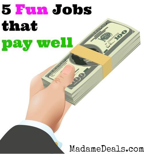 5 Fun Top High Paying Jobs  http://madamedeals.com/5-fun-top-high-paying-jobs/ #jobs #inspireothers: High Paying Careers, High Paying Job, Tops, Fun Jobs Career, Worky Jobby, Work Stuff, Fun Careers