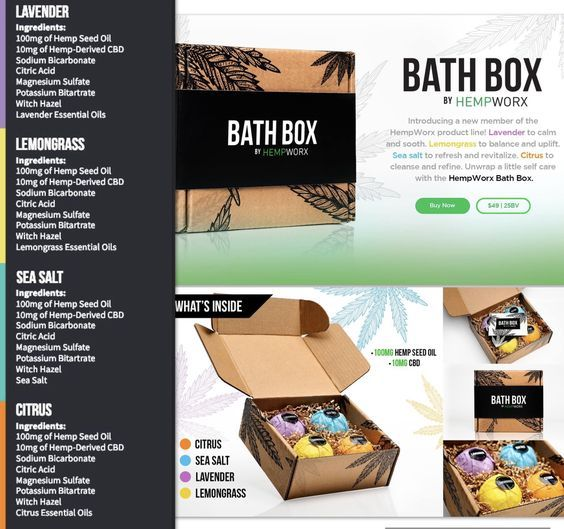Image result for hempworx bath bomb ingredients