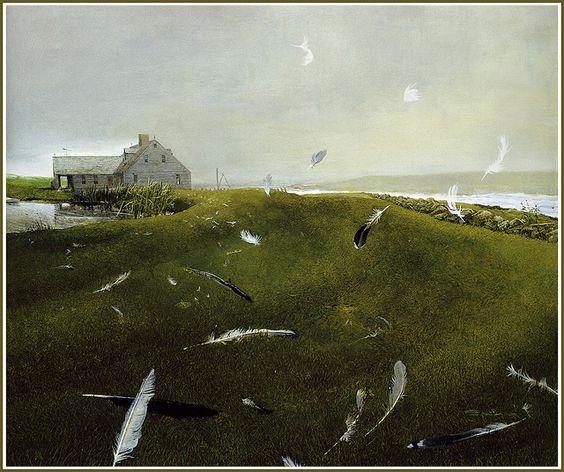"""Andrew Wyeth, """"Airborne"""", 1996"""