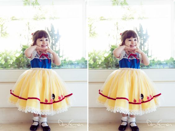 Malu, Fernanda Pontes | Festa de aniversário | Vestido Infantil | Branca de Neve e os Sete Anões | Disney - Malu 2 anos - Malu