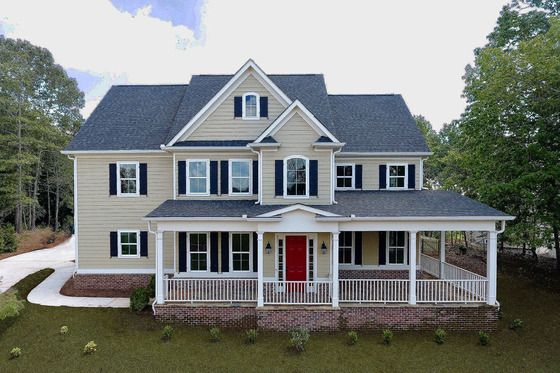 Farmhouse Style House Plan 4 Beds 4 5 Baths 4020 Sq Ft Plan 437 92 Farmhouse Style House Plans House Plans Traditional House Plan Home plans with simple roof lines