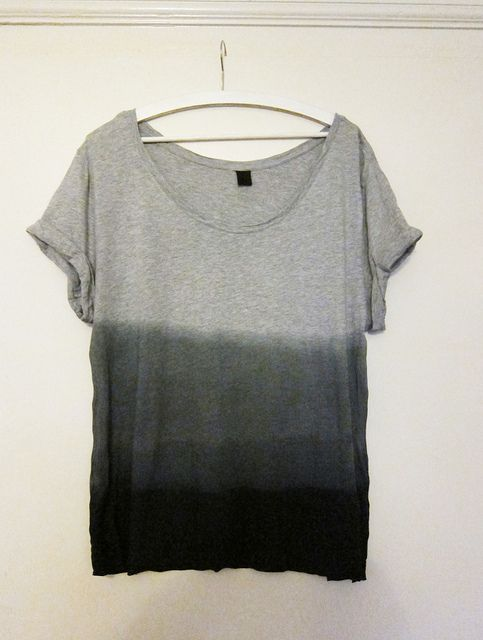 dip dye tee - I should try this with that white tee, see if it makes it more wearable
