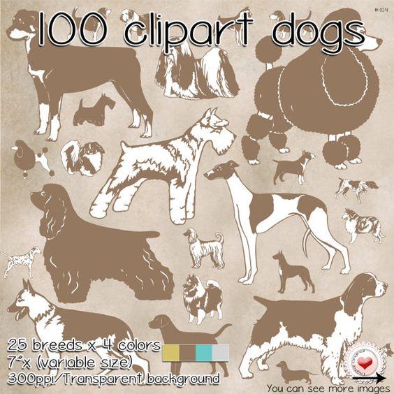 100 Clipart  25 dog breeds  Pastel colors por LilyColor.etsy.com     #LilyColor.etsy.com #digitalpaper #papelesdigitales #printables #descargainmediata  #scrapbooking #digitalpaper #craft #digitaldocuments #patterns #backgrounds #etsy #instantdownload #printable #clipart