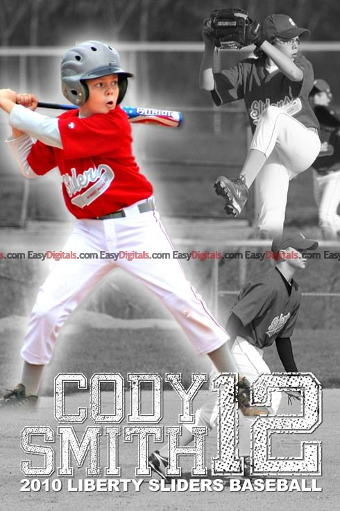 Sports posters templates and blog page on pinterest for Sports team photography templates
