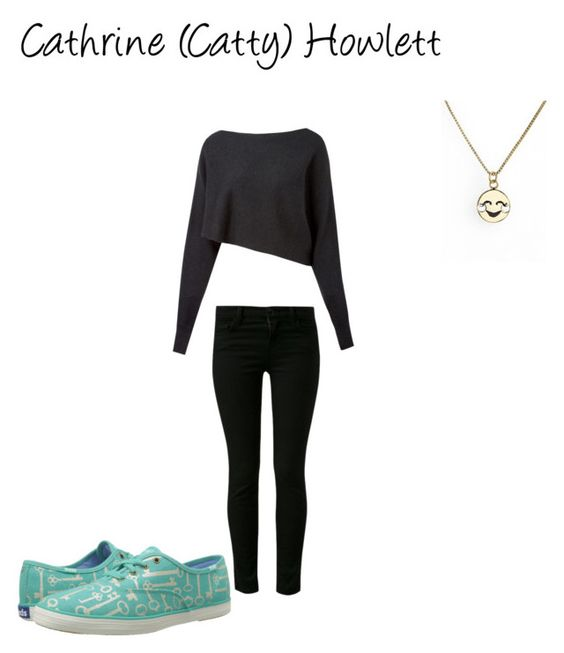 """Catty Howlett"" by lunalynch13 ❤ liked on Polyvore featuring Crea Concept, J Brand, Keds and Kate Spade"