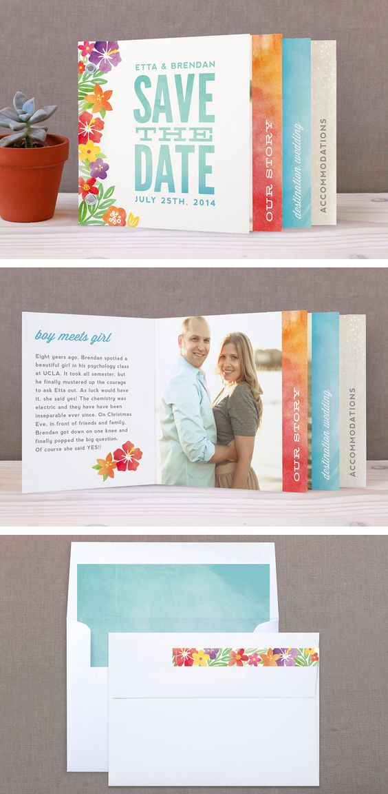 'Tropical Date' save the date minibook by Hooray Creative at minted.com