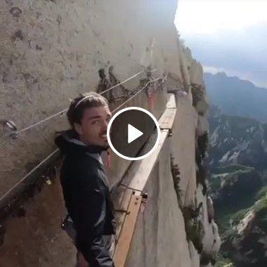 A emoção de andar a 3 mil metros de altura