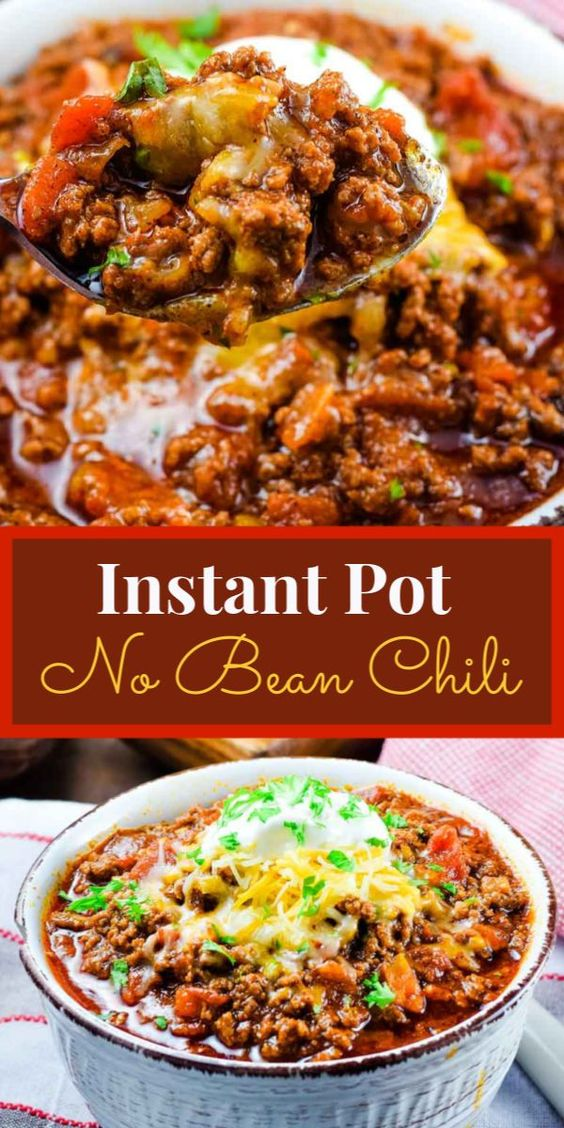 Keto Low Carb Beef Chili - Instant Pot or Crock Pot