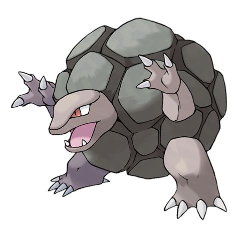 Golem #076 Type: Rock, Ground Evolutions: Geodude #074 ...