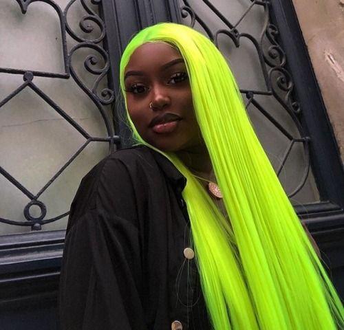 Lime Green Green Hair Hair Styles Neon Hair