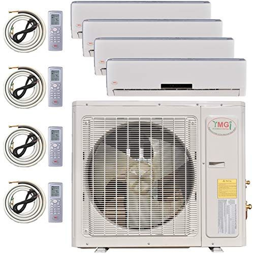 Ymgi Multi Zone Mini Split Ductless Air Conditioner Quad Zone 9000 9000 9000 12000 4 Zone Pre Charged Inverter Compressor Includes Four Free Ductless Air Conditioner Heat Pump System Ductless