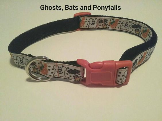 Check out this item in my Etsy shop https://www.etsy.com/listing/470999990/halloween-dog-collar-ghosts-bats-and