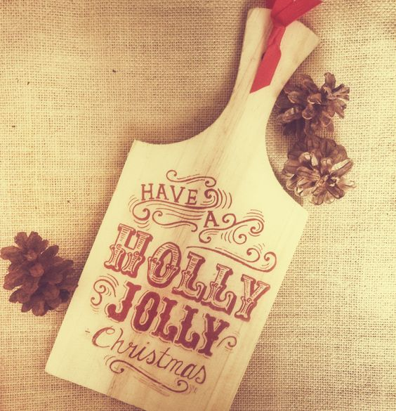 Simply printed on wooden cutting board #DIY