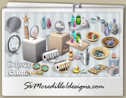Simcredible designs 3 top quality content for sims for Bathroom decor sims 3