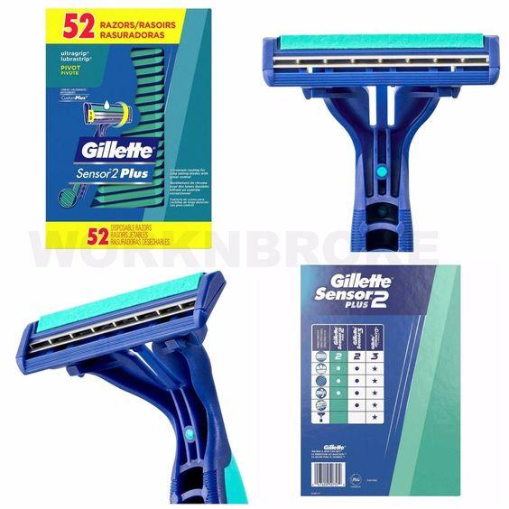 52 Gillette Men S Disposable Shaving Razors Lubricating Vitamin E Aloe Shave New Gillette Shaving Razor Disposable Razor Gillette