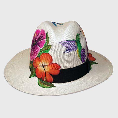 Cucarda Y Colibrí Facinarte Sombreros Lindos Sombreros Pintados A Mano Sombreros