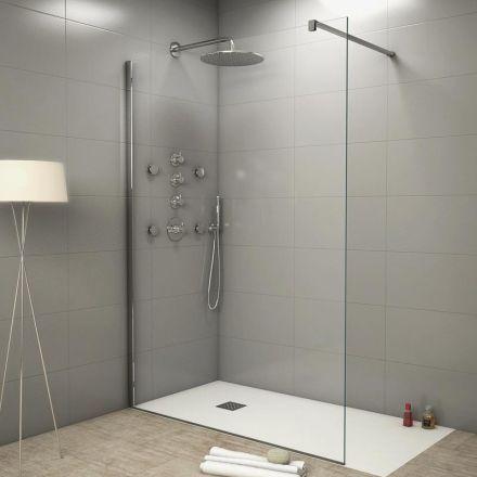Paroi de douche fixe verre 8mm, 140 cm