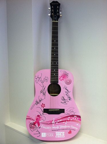 Help us beat breast cancer and you could win the one-of-a-kind Country Music Inspires Cures guitar — complete with a star-studed collection of autographs.