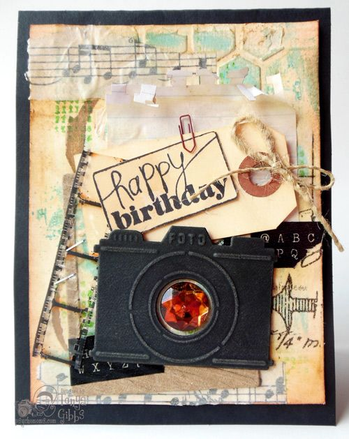 Image result for mixed media birthday card
