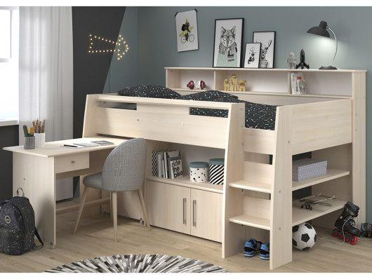 lit combine apoline avec bureau et