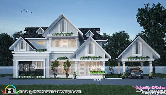 European Style 4 Bedroom 2262 Sq Ft Kerala House Design House Designs Exterior Model House Plan Small house design europe