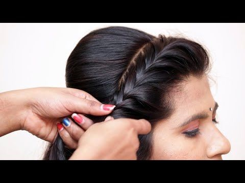 Very Easy And Simple Hairstyles With Lehenga Messy Bun New Hairstyles Party Hairstyles Youtube Hair Puff Wedding Bun Hairstyles Bridal Hair Buns