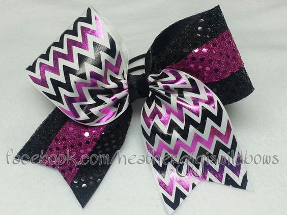 Hey, I found this really awesome Etsy listing at https://www.etsy.com/listing/193648018/cheer-hair-bow-chevron