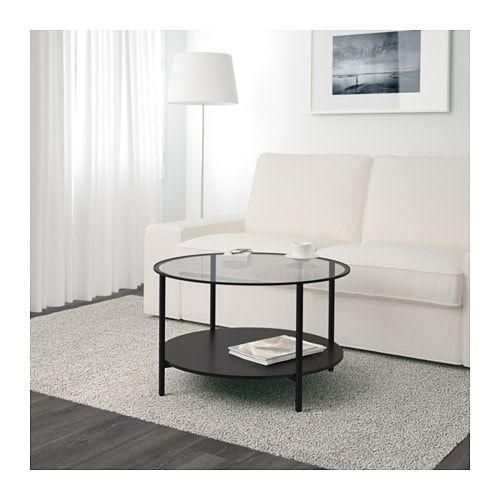 Tavolo Vetro Rotondo Ikea.Vittsjo Coffee Table Black Brown Glass 29 1 2 Black Coffee