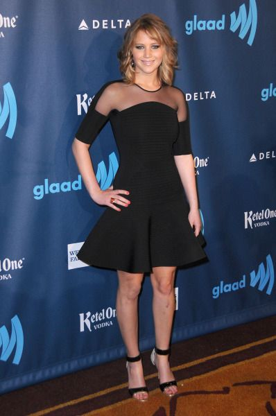 J-Law Stays Classy on the Red Carpet The 24th Annual GLAAD Media Awards.