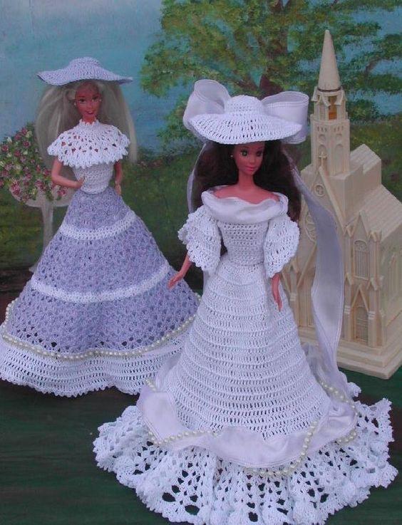 CROCHET FASHION DOLL PATTERN-#40 WEDDING PARTY #ICSORIGINALDESIGNS