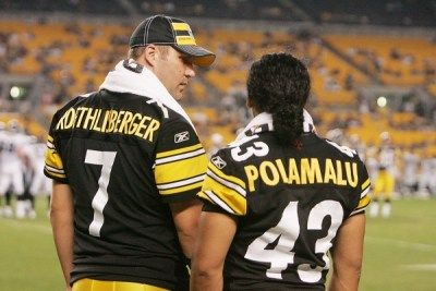 Pittsburgh Steelers~ Troy Polamalu and Ben Roethlisberger