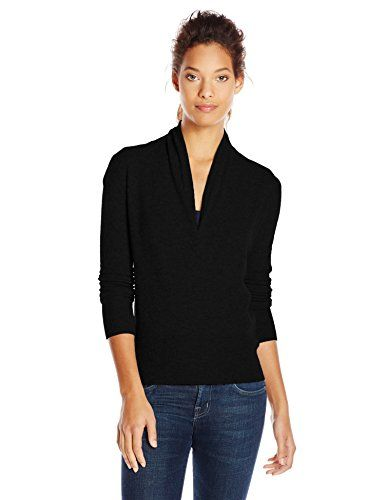Sofie Women's 100% Cashmere Faux Wrap Sweater - http://www ...