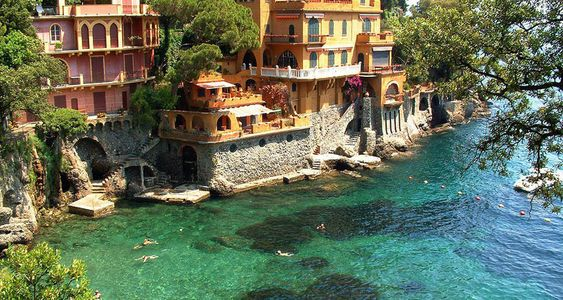 Portofino – small fishing town located in the province of Genoa. One of the most beautiful Mediterranean ports. Part of the Italian Riviera.
