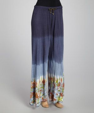 Another great find on #zulily! Blue & Green Ombré Tie-Dye Palazzo Pants by Royal Handicrafts #zulilyfinds