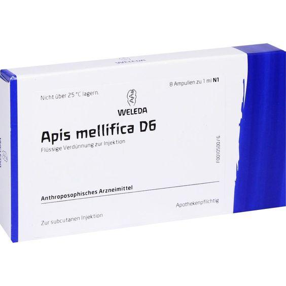 APIS MELLIFICA D 6 Ampullen:   Packungsinhalt: 8 St Ampullen PZN: 01617458 Hersteller: WELEDA AG Preis: 12,49 EUR inkl. 19 % MwSt. zzgl.…
