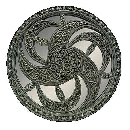 Celtic patterns. Crescent Moons of the Mother Godess.
